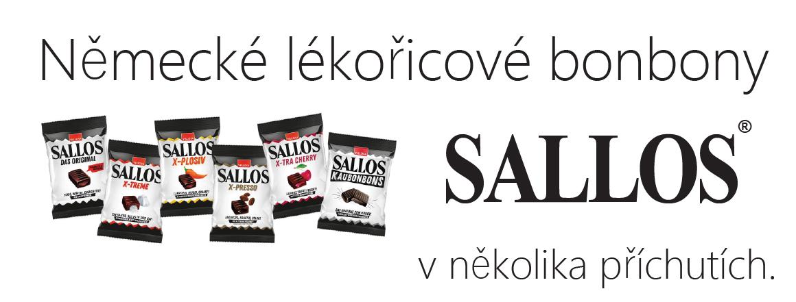 Německé lékořicové bonbony Sallos