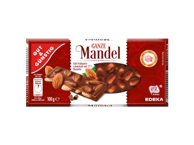 cokolada s mandlemi 100g