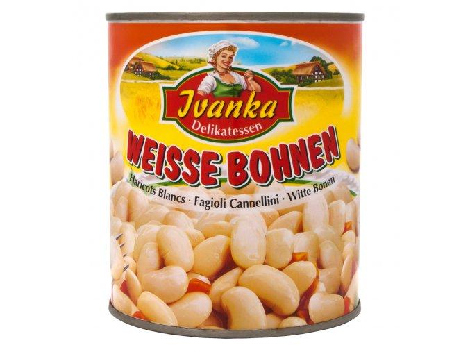 Bile fazole v konzerve 800g