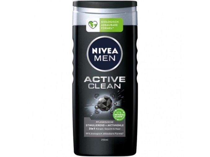 sprchovy gel nivea deep active clean 3v1 250 ml