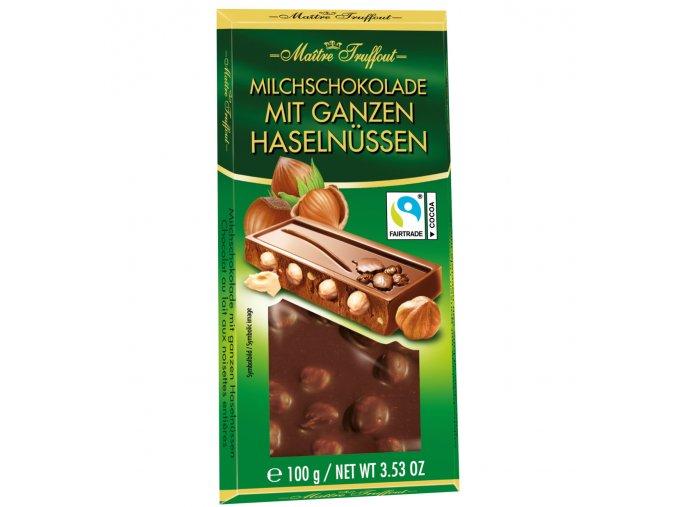 mlecna cokolada s liskovymi orechy 100g