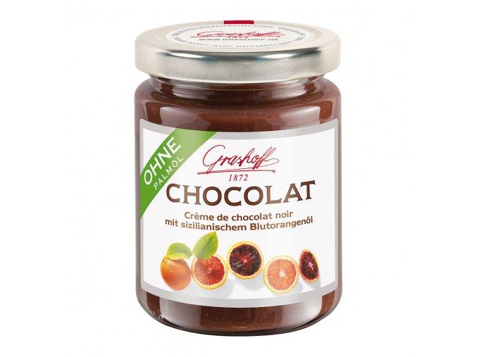 tmavy krem z cokolady se sicilskymi pomeranci 250g