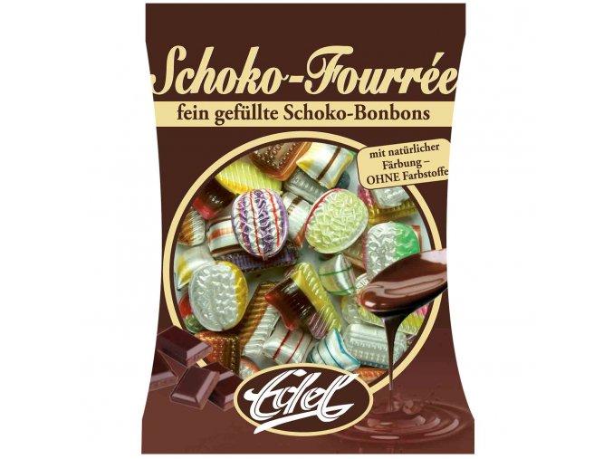 edel tvrde karamelky s cokoladovou naplni 125g