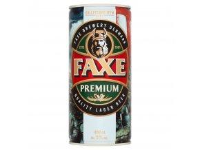 pivo Faxe premium s motivem vikingu 1l