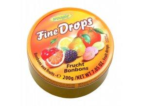 fine drops ovocne bonbony v plechove doze 200g