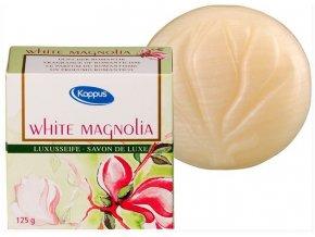 romanticke luxusni toaletni mydlo pro zeny kappus bila magnolie 125g