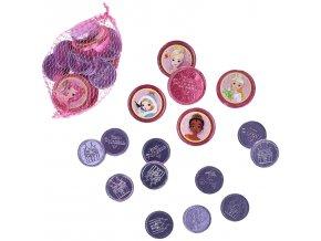 Cokoladove mince s motivem princezny 60g