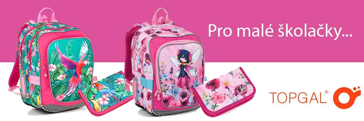 Školní batohy pro malé školačky, které jsou do první třídy