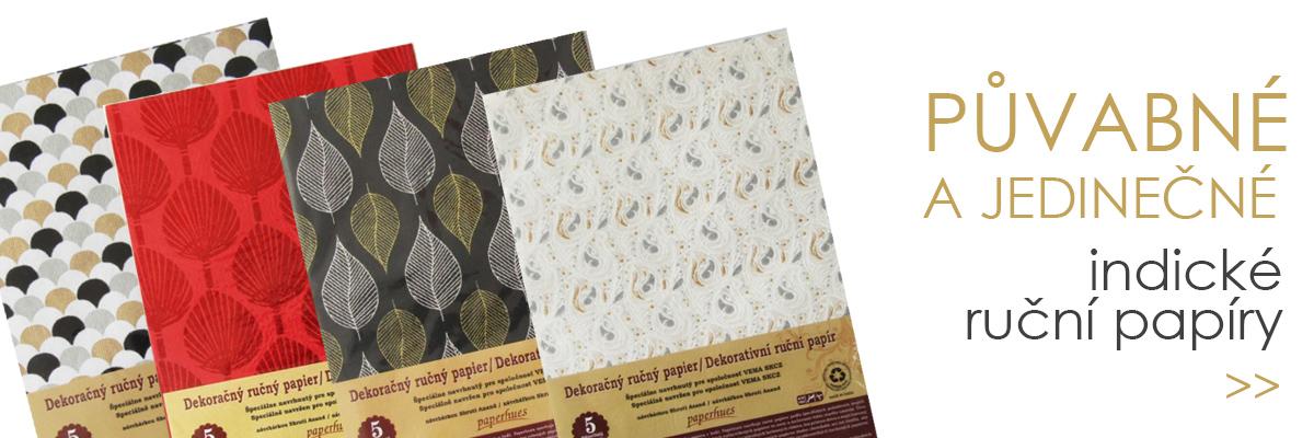 indické ruční papíry
