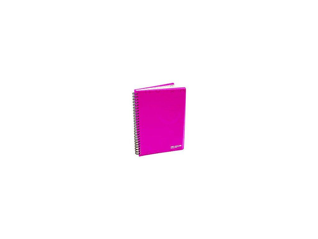 """Blok kroužkový A5 linka """"Neo Colori"""" růžový"""