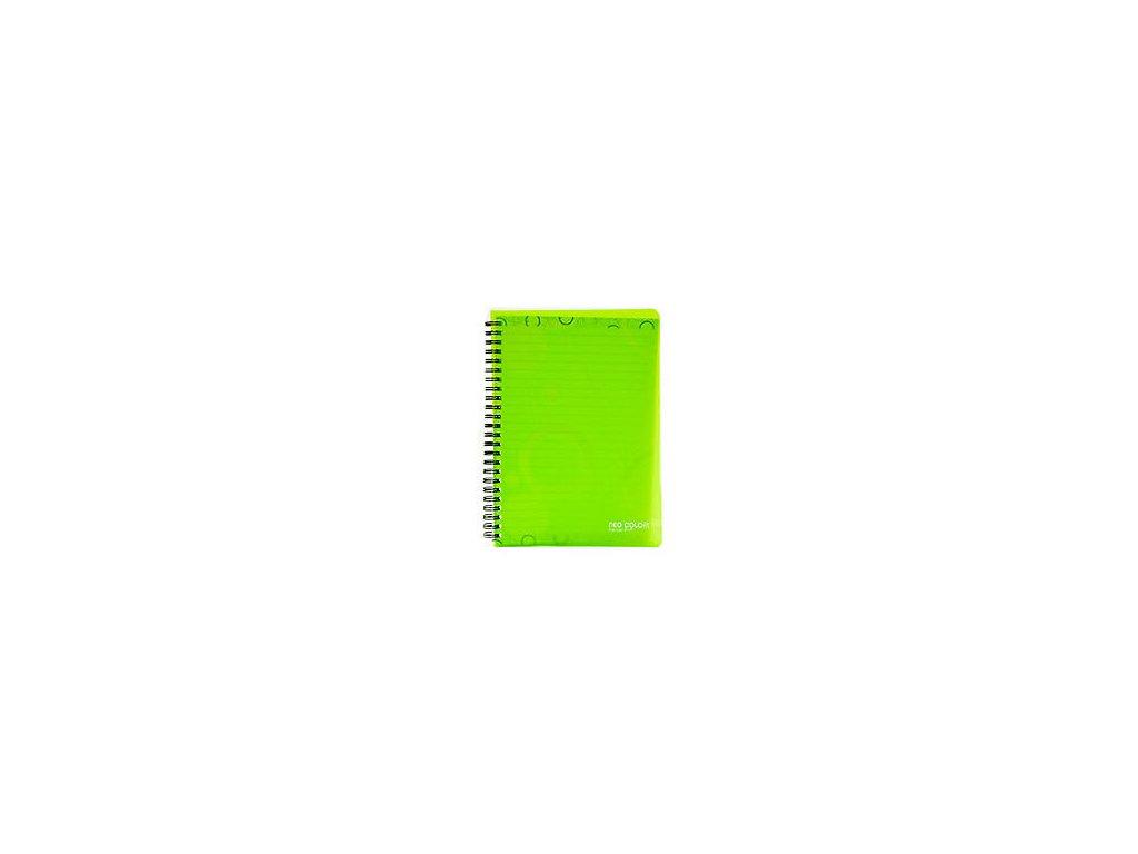 "Blok kroužkový A5 linka ""Neo Colori"" zelený"