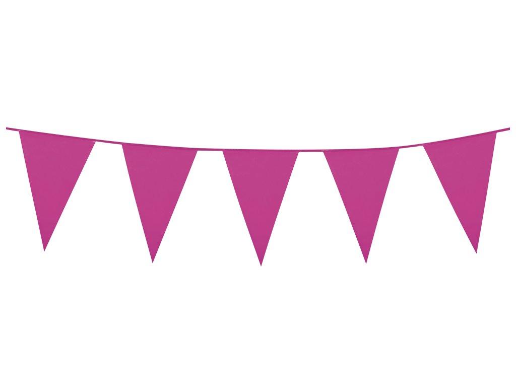Girlanda PE mini tmavě růžová