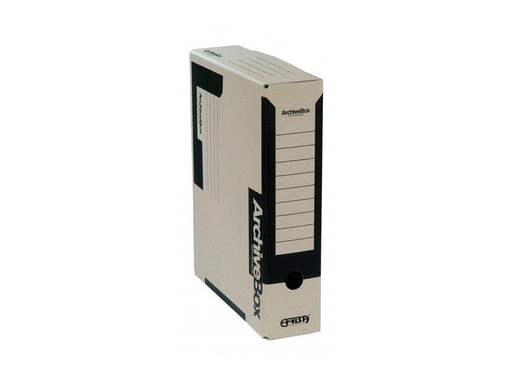 Box archivní 330 x 260 x 75 mm černý A4
