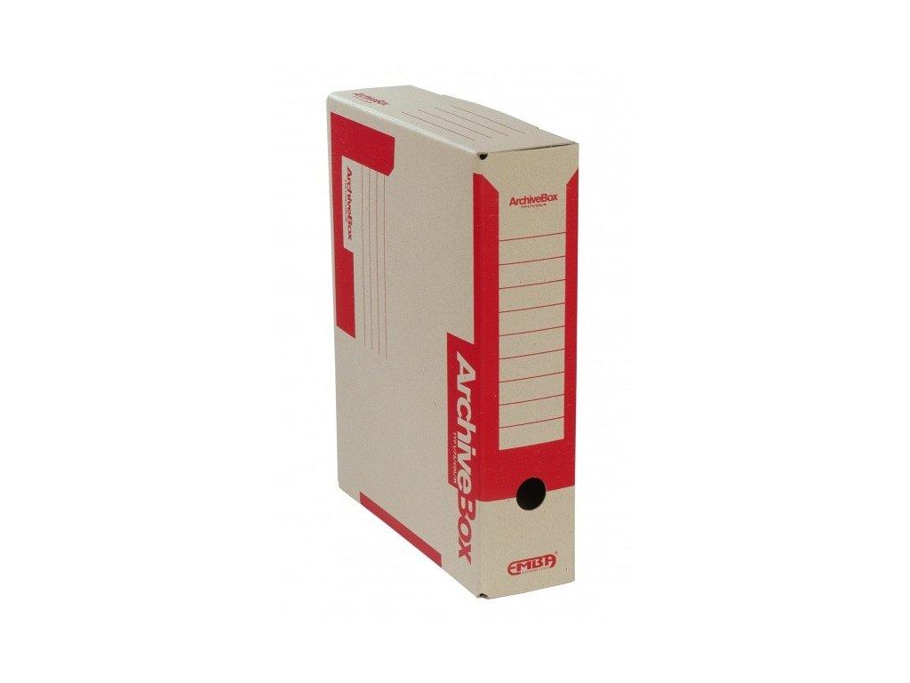 Box archivní 330 x 260 x 75 mm červený