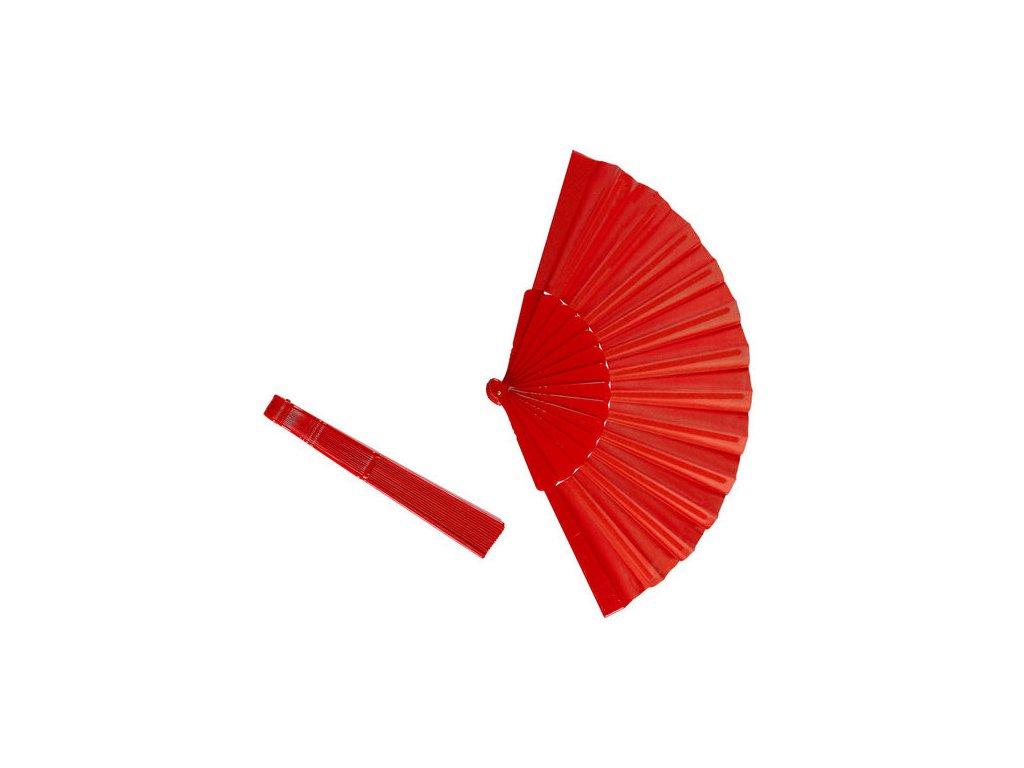 8003558548538 cerveny plastovy vejir 54853 a
