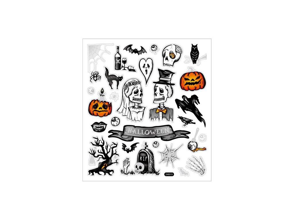 halloween samolepky