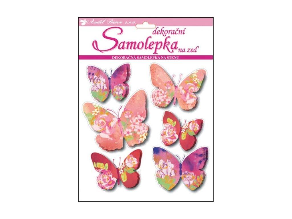 Dekorace pokojová 3D motýlci