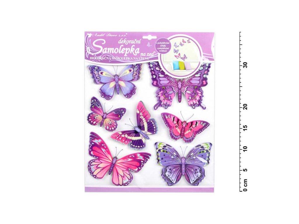 Samolepící dekorace 10162 motýli fialoví 30,5x30,5 cm