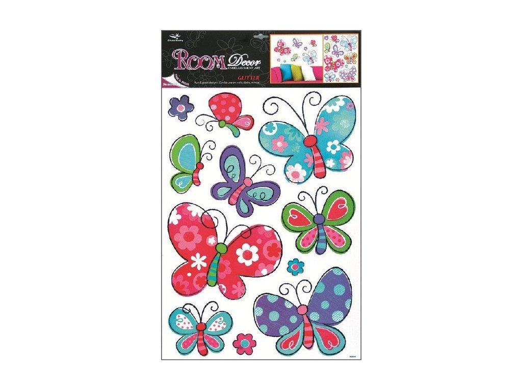 Dekorace pokojová barevná motýlci