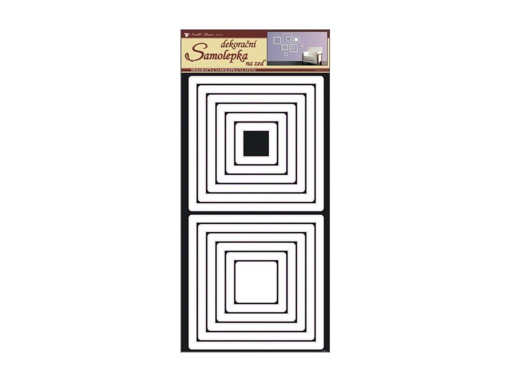 Dekorace pokojová čtverce bílé