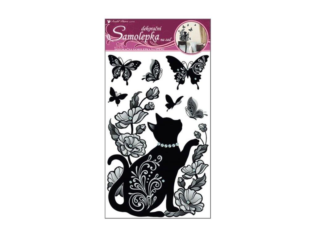 Dekorace pokojová kotě černé