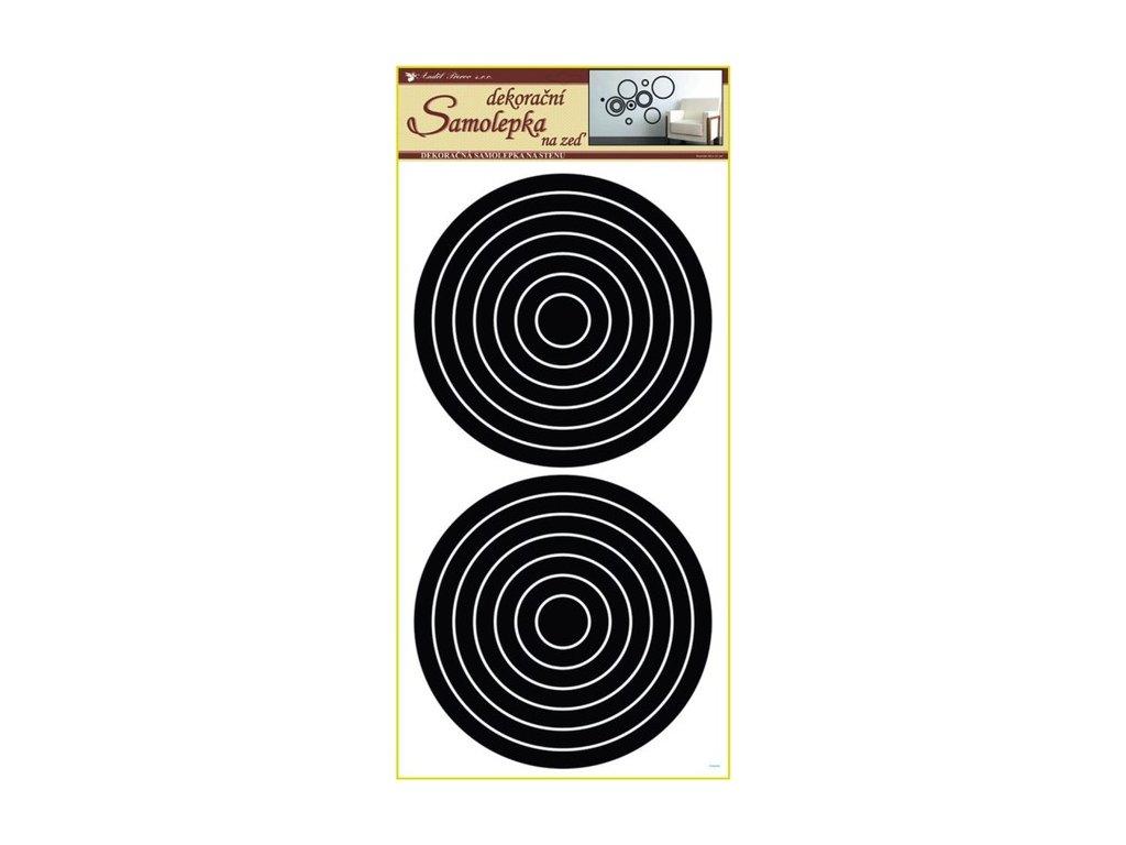 Dekorace pokojová kruhy černé