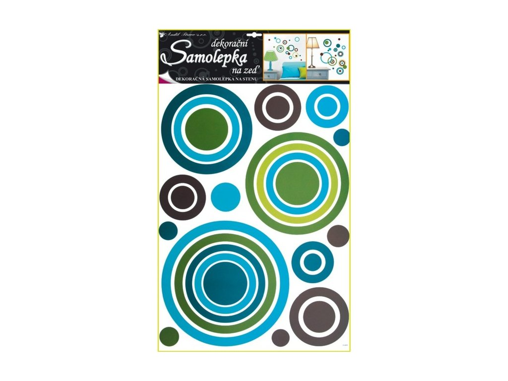 Dekorace pokojová kruhy modré
