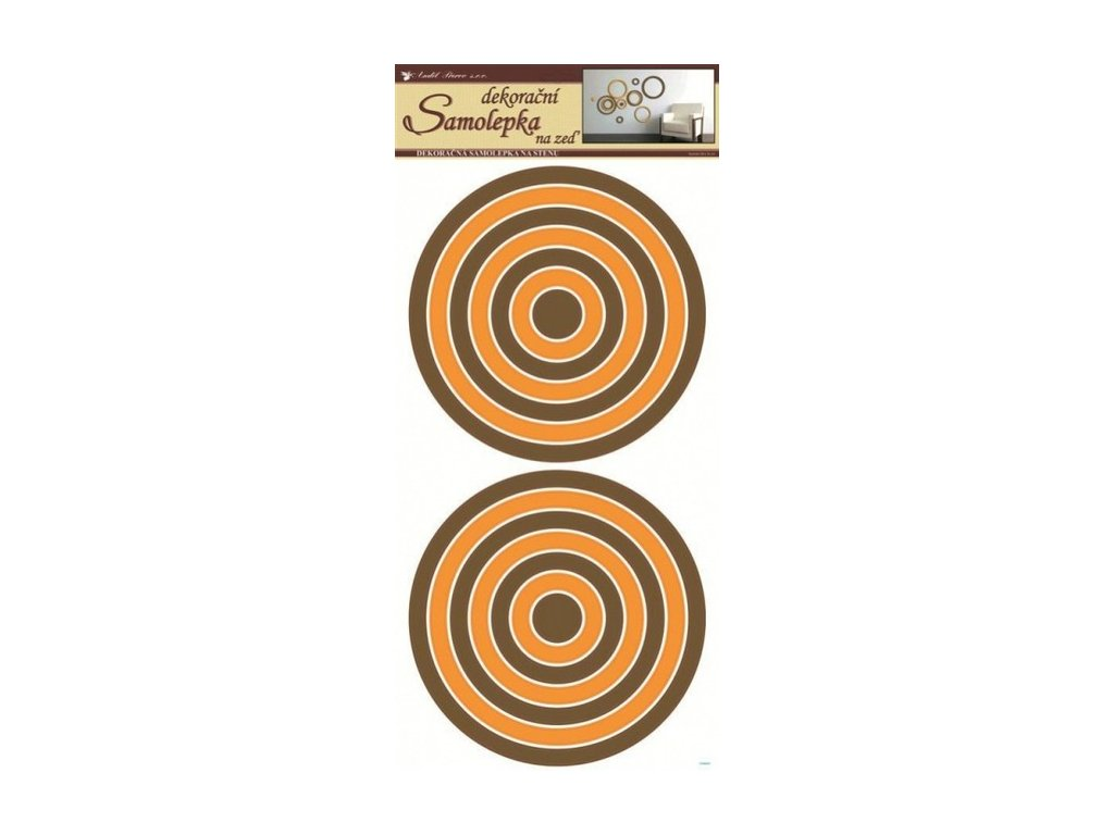Dekorace pokojová kruhy oranžovo-hnědé