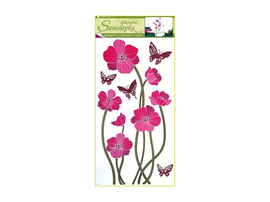 Dekorace pokojová květy růžové