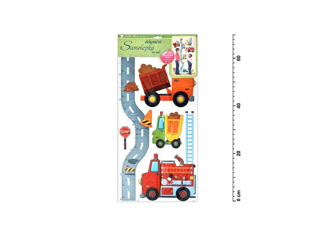 Samolepící dekorace 10098 silnice s auty 70x33cm