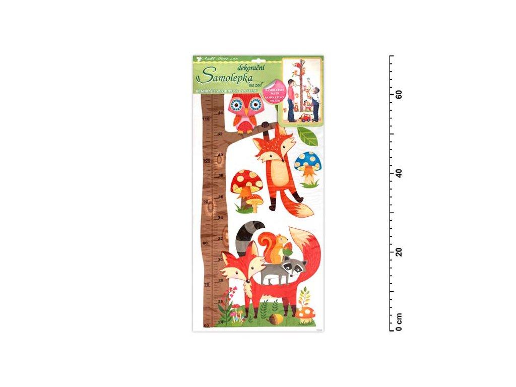 Samolepící dekorace 10096 strom s lesními zvířátky 70x33cm