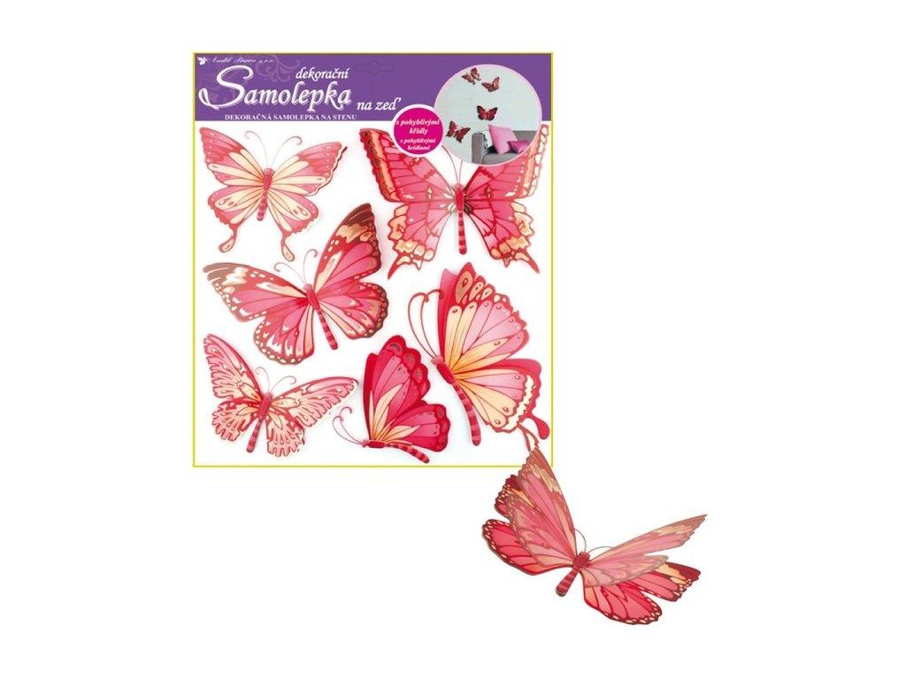 Dekorace pokojová motýl růžový