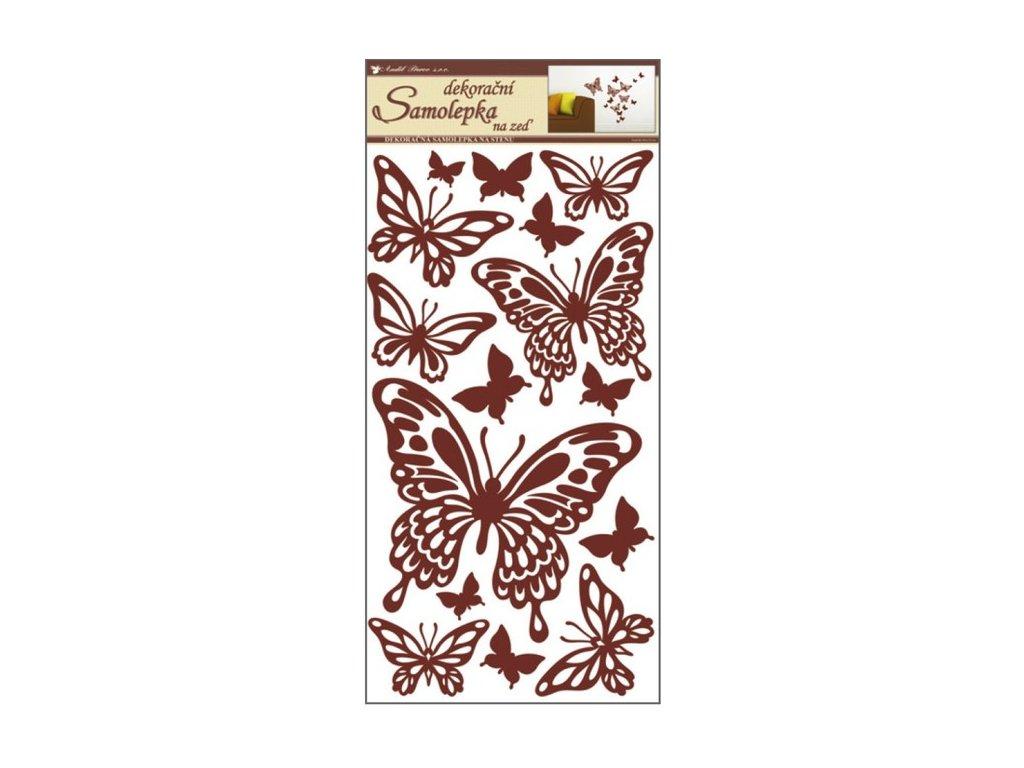Dekorace pokojová motýlci hnědí