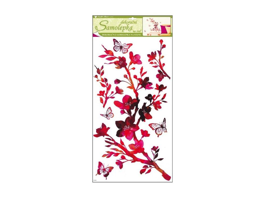 Dekorace pokojová Sakura rubínová
