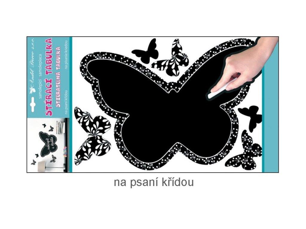 Dekorace pokojová tabulka na psaní motýl