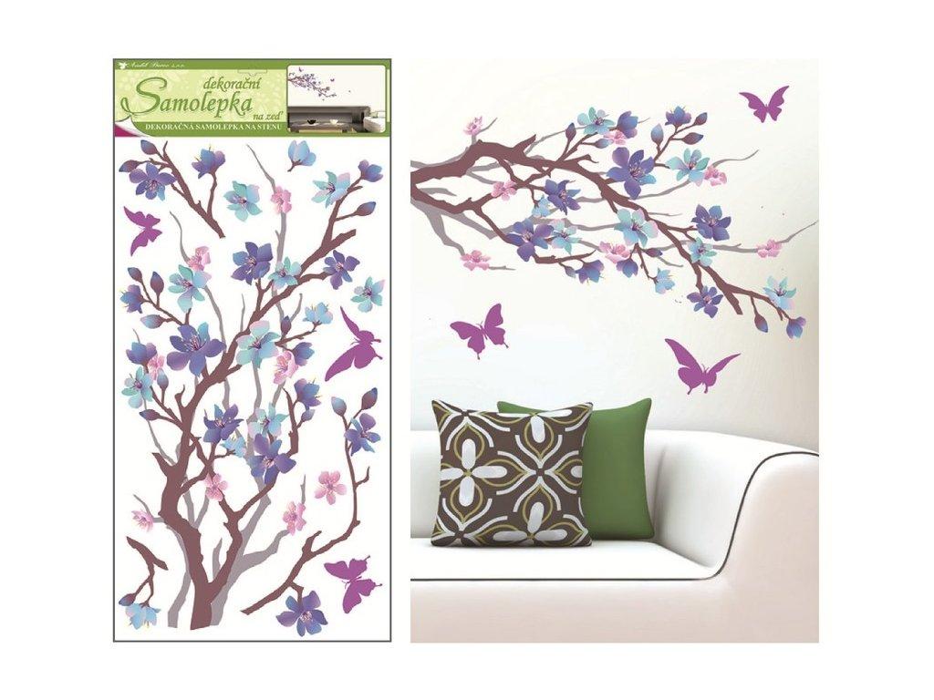 Dekorace pokojová větvička purpurovo-fialový