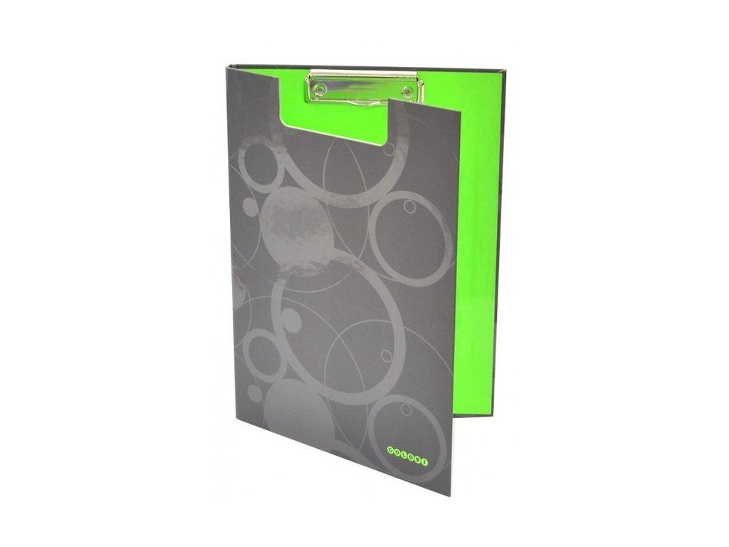 """Deska A4 s klipem dvojitá """"Duo Colori"""" šedo-zelená"""