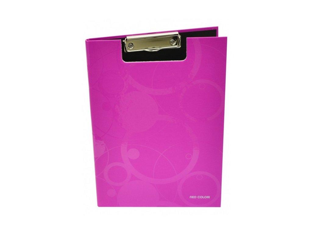"""Deska A4 s klipem dvojitá """"Neo Colori"""" růžová"""