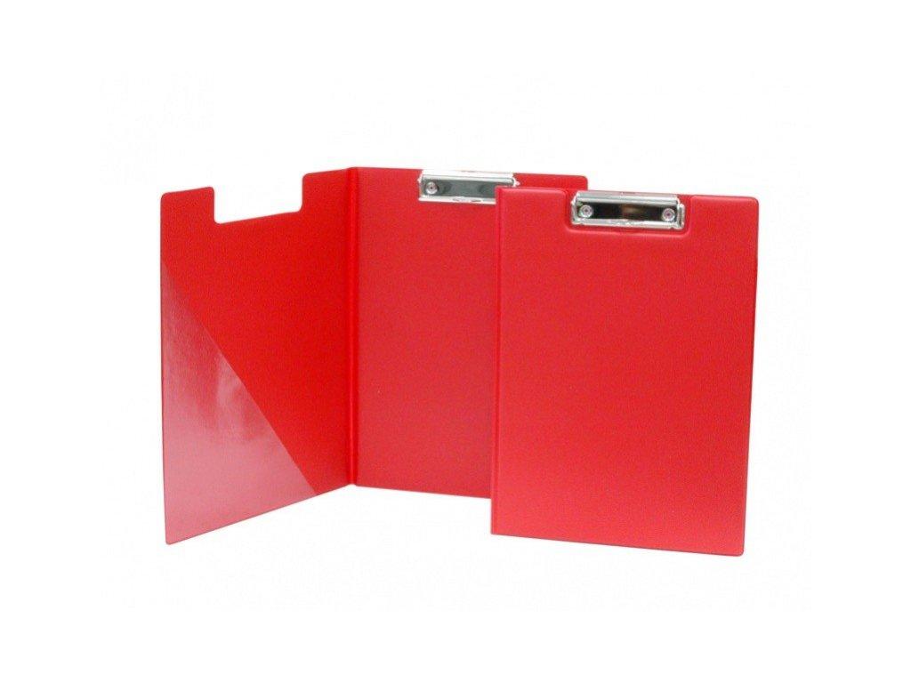 Deska A4 s klipem dvojitá červená