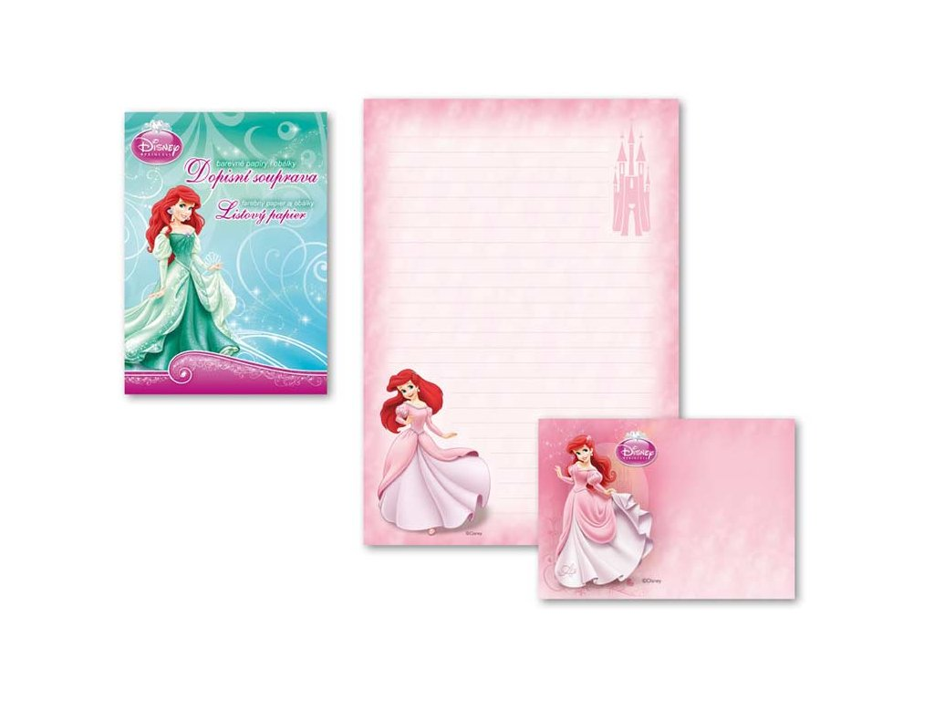 Dopisní papír barevný LUX 5+10 Disney (Ariel)