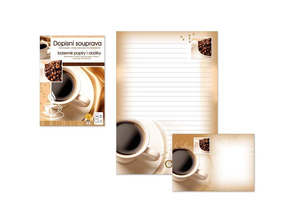 Dopisní papír barevný LUX 5+10 (Káva)