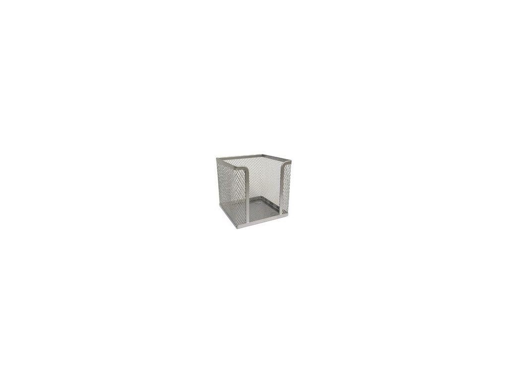 Drátěný stojánek na papírky stříbrný