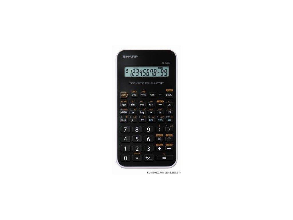 Kalkulačka SHARP EL 501X-WH