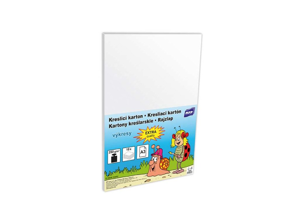 Kreslící karton  A3 10 listů 250g