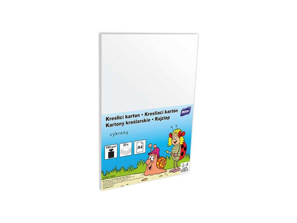 Kreslící karton  A4 20 listů 190g