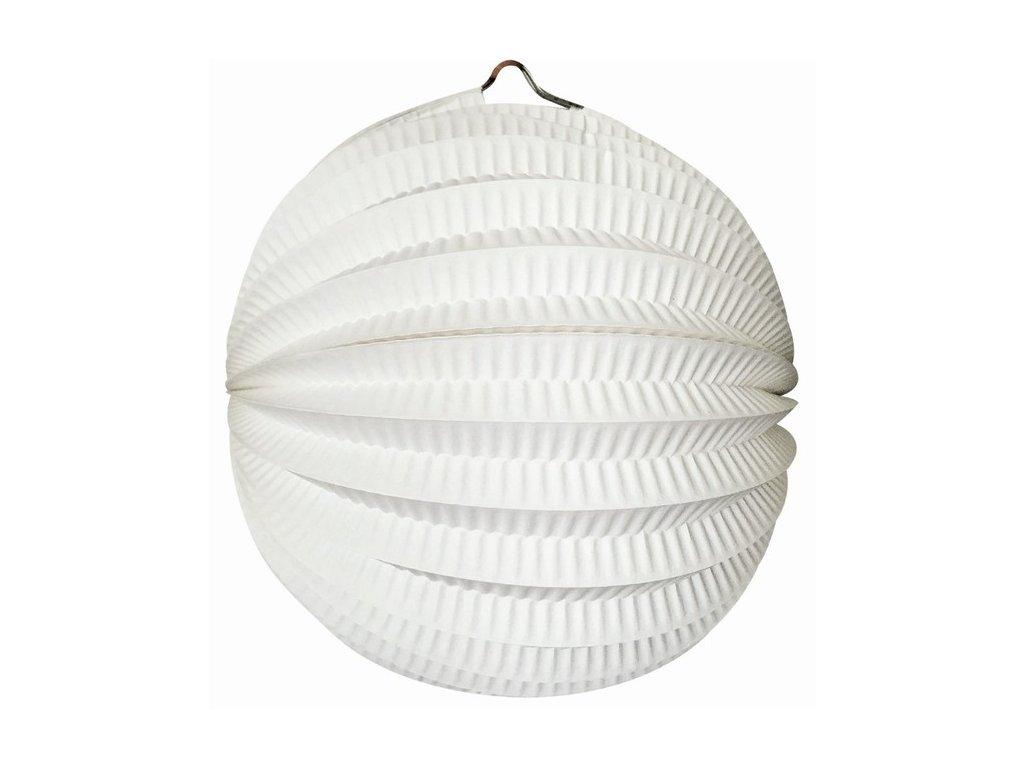 Lampion kulatý bílý