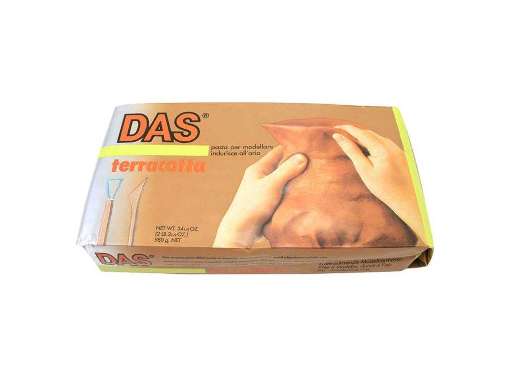 Modelovací hmota DAS hnědá 1000g