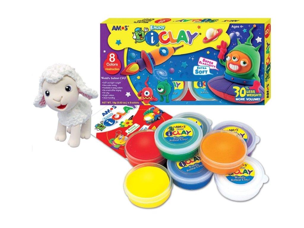 Modelovací hmota iClay extra soft 8 colors
