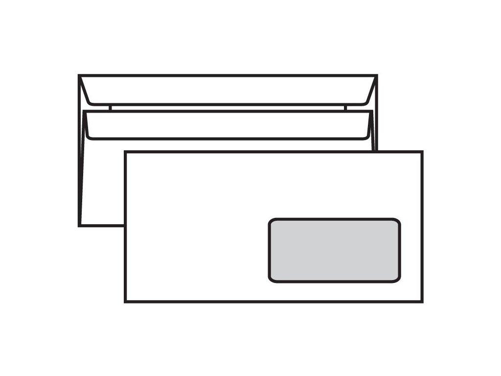 Obálka DL samolepcí 50 ks s oknem