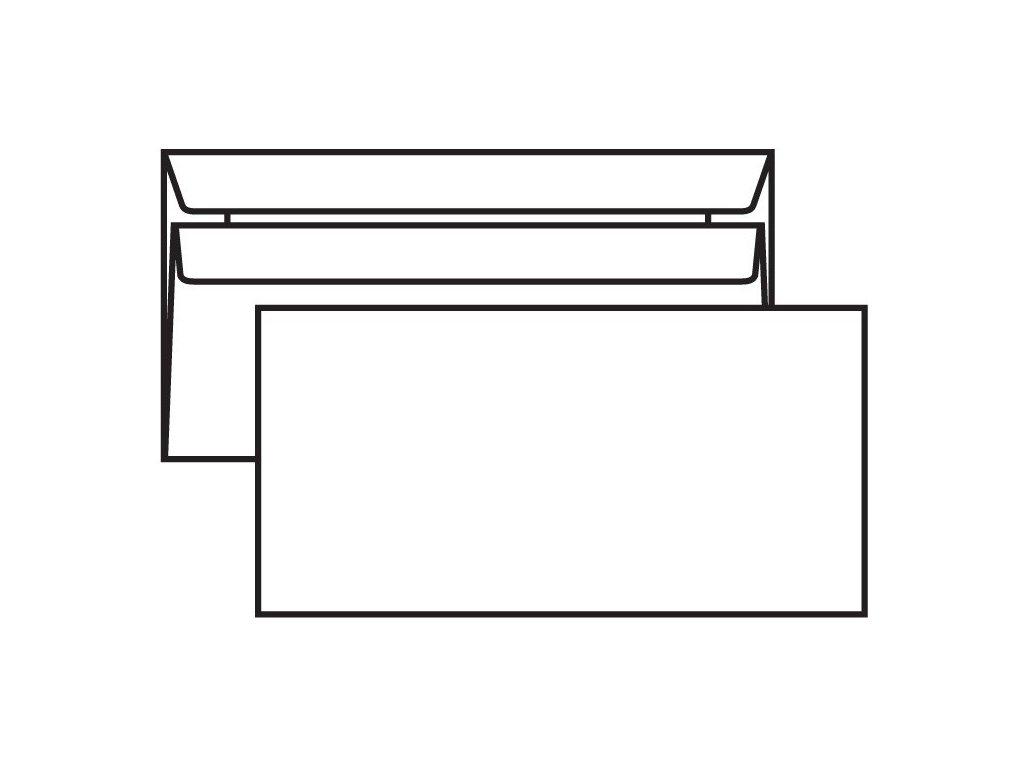Obálka DL samolepící 50 ks bez okna